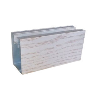 Electrophoresis Wood Aluminium Extrusion for Wardrobe Profile pictures & photos
