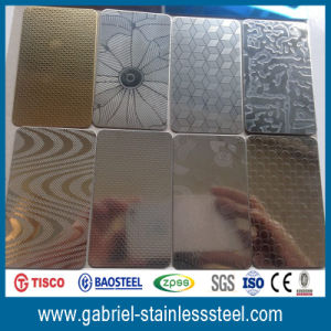 Decorative 201 Embossed Stainless Steel Plate Sheet pictures & photos