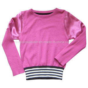 Little Lady′s Round-Neck Fashion Sweater