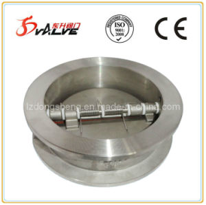 Wafer Type Dual Plate Check Valve Dn40-300 ISO Pn25 pictures & photos