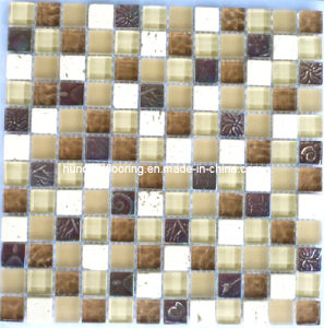Stone Mix Crystal Glass Mosaic Tile (HGM229) pictures & photos