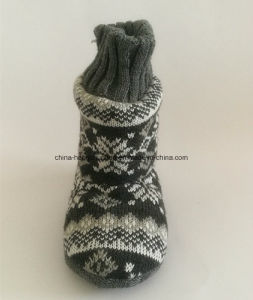 Winter Kids Cashmere Indoor Boots with Knitted pictures & photos