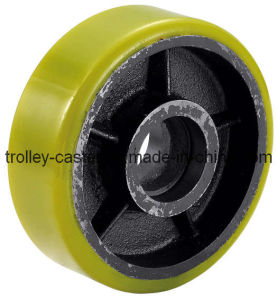 PU on Iron Caster Wheel (yellow, wheel only) pictures & photos