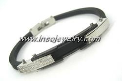 Stainless Steel Bangle Rubber (BG7355)