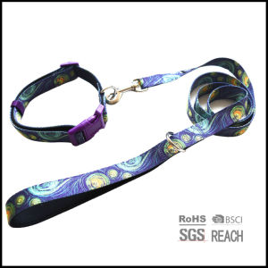 No Minimum Full Color Sublimation Printed Polyester Pet Dog Collar pictures & photos