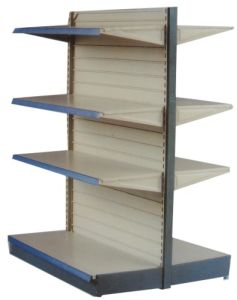 Double-Side Supermarket Shelf With Back Board (0062)