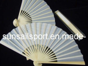 Plain Folding Fan White Cloth Fan