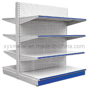 Perforated Back Supermarket Shelving Punch Back Panel Gondola Shelving pictures & photos