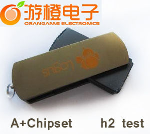 Metal USB Flash Drive Customized Logo Available (OM-M002) pictures & photos