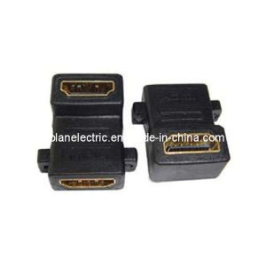 90 Degree Right Angled HDMI Jack to Jack Adapter pictures & photos