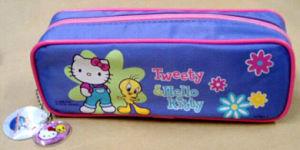 Rectangle Canvas Pencil Bag Pouch