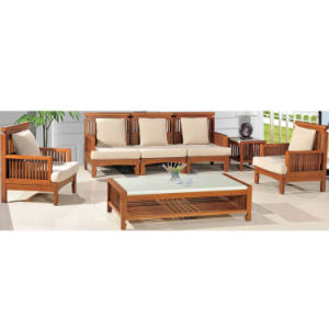 Chinese Classic Carbonized Bamboo Sofa for Living Room pictures & photos