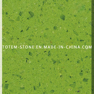 Artificial Green Crystal Stone Quartz for Flooring Tile, Slab, Countertop pictures & photos