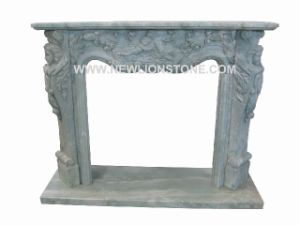 Fireplace Mantel from Granite and Marble