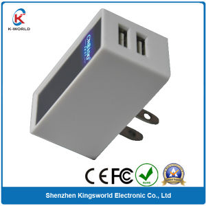 Dual USB Super Fast Mobile Phone Charger with Your Logo Shining pictures & photos