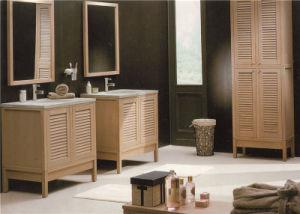 Solid Wood PVC Plywood Bathroom Vanity with Ceramic Sink