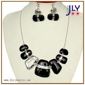 Wholesale Zinc Alloy Rhodium Plating Hand Made Enamel Fashion Jewelry Necklace Set pictures & photos