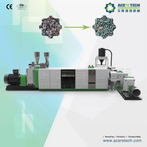 Ce Standard Two-Stage Extruder for Waste Plastic Flakes/Regrinds Recycling pictures & photos