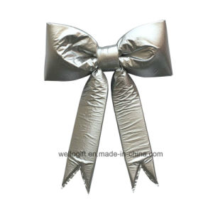 Handmade Gold Non-Woven Bowknot for Christmas Decoration pictures & photos