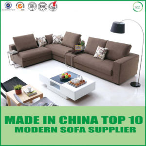 Nordic Classic Linen Fabric L Shape Sectional Sofa pictures & photos