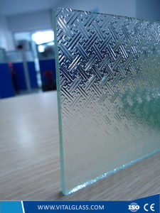Clear Tempered Fylfot Patterned/Figured/Laminated/Acid Etched/Reflective/Ceramic Glass for Bathroom Glass pictures & photos