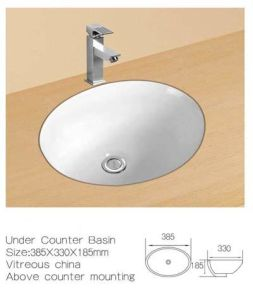 Under Counter Ceramic Wash Basin, Under Mounting Bathroom Cabinet Sinks pictures & photos