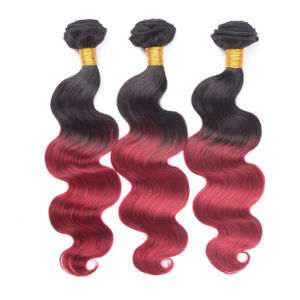 Cheap Price Ombre Color Peruvian Human Hair Body Wave 18inches pictures & photos