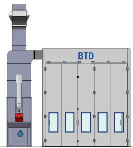 BTD Bus Truck Big Spray Booth Mechanical Workshop Tools pictures & photos