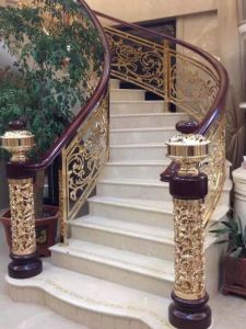 Brass/Copper Color Coated Stair/Balcony Aluminum Railing pictures & photos
