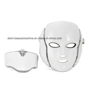 7 Colors PDT Photon LED LED Facial Neck Mask Smart System LED Light Therapy Mask for Anti-Aging Beauty Mask pictures & photos