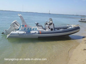 Liya 6.2m Rib Boat Fiberglass Rigid Inflatable Boat for Sale pictures & photos