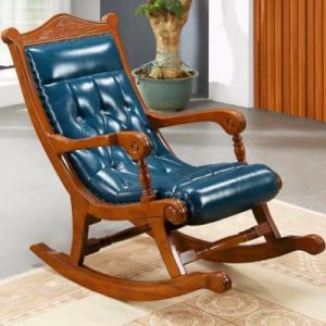 Wood Fabric Rocking Sofa Chair From Foshan Furniture Factory pictures & photos
