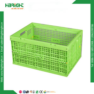 Plastic Packing Box Plastic Moving Crate Tote with Lid pictures & photos