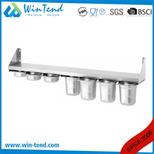 Latest Design Stainless Steel Kitchen Wall-Hung Shelf for Gn 1/6 Pan pictures & photos