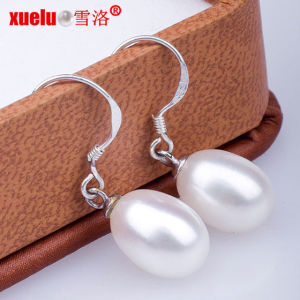 925 Silver Teardrop Shape Freshwater Pearl Drop Earrings Jewelry pictures & photos