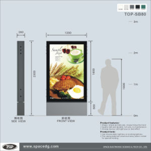 Standing Roadside Double Side Scrolling Advertising Muppi pictures & photos