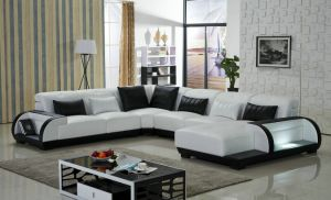 European Style 2015 New Design Geniune Leather U Shape Leather Sofa pictures & photos