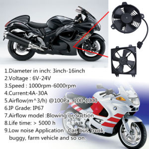 12V 4A Electric Plastic Axial Spal Cooling Ventilating Condenser Fan on The Bus pictures & photos