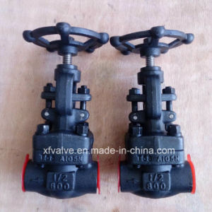 API602 1500lb Forged Carbon Steel A105 Thread End Globe Valve