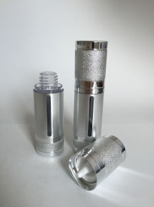 Luxury Sliver Alumite Acrylic Airless Bottle for Cosmetic Packaging (PPC-AAB-023) pictures & photos