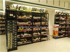 Supermarket Adjustable 6 Tiers Chrome Metal Wine Display Rack pictures & photos