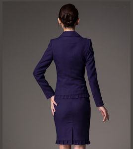 Made to Measure Fashion Stylish Office Lady Formal Suit Slim Fit Pencil Pants Pencil Skirt Suit L51623 pictures & photos