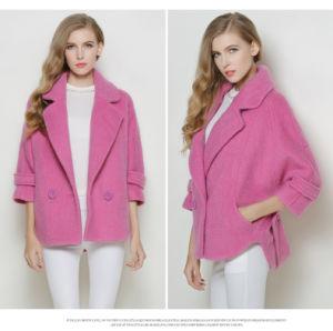 Europe Autumn Short Style Turndown Collar Women Coat pictures & photos