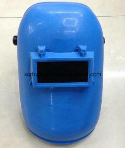 Wholesale Latest Design Blue Welding Mask with Welding Glass, Adjustable Harness Simple Design Black Welding Helmet