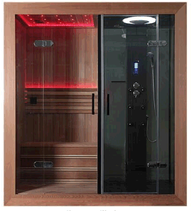 Factory Direct 7-Color LED Super Shower Room with Steam Sauna pictures & photos