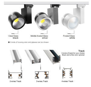 20W/30W/40W/50W White Black Silver LED Track Light with Ce RoHS Approved pictures & photos