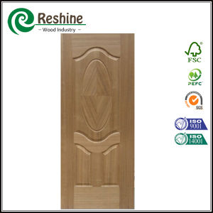 Natural Ash Veneer Molded Door Skin with Classic Design