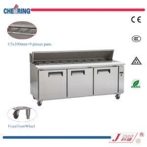 Ce Approved 3 Door Restaurant Pizza Sandwich Workbench Refrigerator pictures & photos