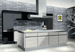 Modular Wood Kitchen Cabinet for Sale (ZH-9601) pictures & photos