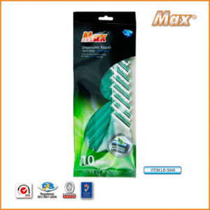 Twin Stainless Steel Blade Disposable Razor Fro Man (LB-5048) pictures & photos